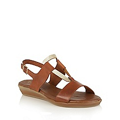 Lotus - Tan gold 'Luxmore' open toe sandals