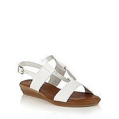 Lotus - White silver 'Luxmore' open toe sandals