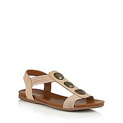 Lotus - Beige elastic 'Dora' open toe sandals