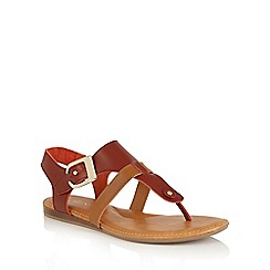 Lotus - Red multi 'Arvon' toe post sandals