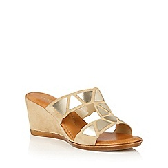 Lotus - Natural suede 'Briony' wedge sandals
