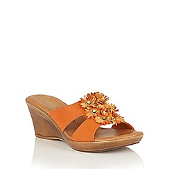 Lotus - Orange 'Cassel' mules