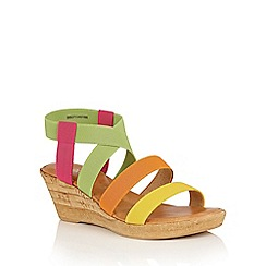 Lotus - Bright multi 'Jeanine' wedge sandals