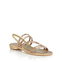 Lotus - Gold multi 'Calandra' strappy sandals