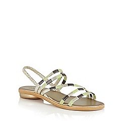 Lotus - Green multi 'Calandra' strappy sandals