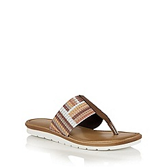 Lotus - Bronze multi elastic 'Gabriella' toe post sandals