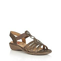 Lotus - Bronze matt 'Philomena' open toe sandals