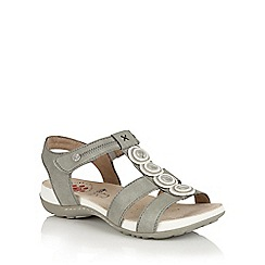 Lotus - Stone matt 'Marcellina' open toe sandals