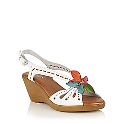 Lotus - White multi 'Trevi' wedge sandals