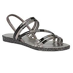Lotus - Black multi 'Bastia' elastic sandals