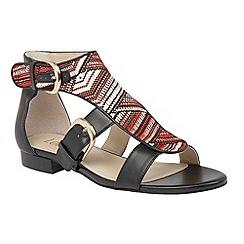 Lotus - Red multi 'Hixon' sandals
