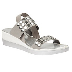 Lotus - Grey 'Zelland' platform sandals