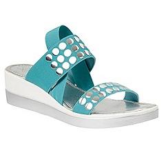 Lotus - Turquoise 'Zelland' platform sandals
