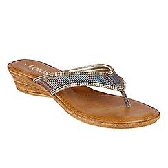 Lotus - Rainbow print 'Tofoni' toe post sandals