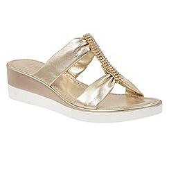 Lotus - Gold 'Cambio' sandals