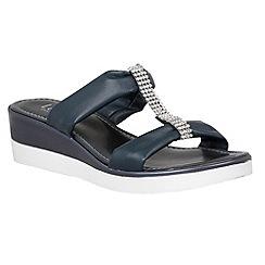 Lotus - Navy 'Cambio' sandals