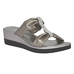 Lotus - Pewter metallic 'Cambio' sandals