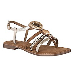 Lotus - Gold leather 'Soave' sandals