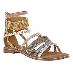 Lotus - Gold leather 'Wren' strappy sandals