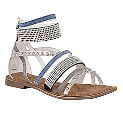 Lotus - Silver leather 'Wren' strappy sandals
