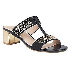 Lotus - Navy shiny 'Rosana' sandals