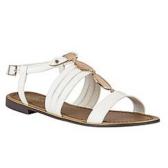 Lotus - White 'Alpine' sandals