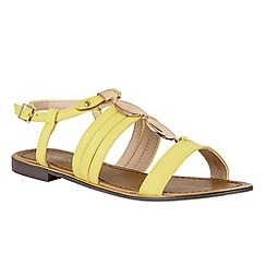 Lotus - Yellow 'Alpine' sandals