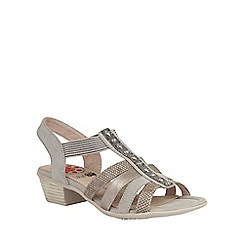 Lotus - Metallic multi 'Magali' sandals