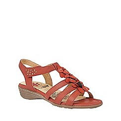 Lotus - Red 'Sonal' sandals