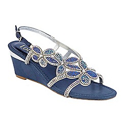 Lotus - Blue 'Anna' diamante sandals