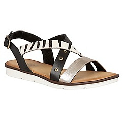 Lotus - Black 'Tigerlily' strappy sandals