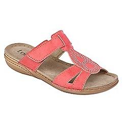 Lotus - Pink 'Salento' flat sandals