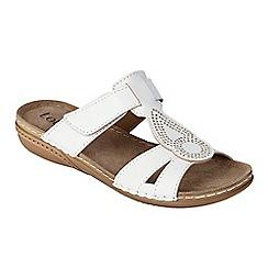 Lotus - White 'Salento' flat sandals