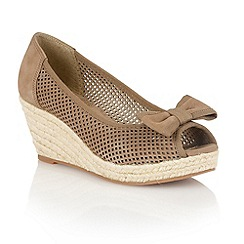Lotus - Khaki 'Sharatan' peep toe shoes