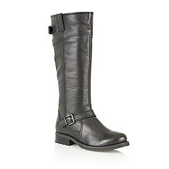 Lotus - Black 'Amano' long leg boots