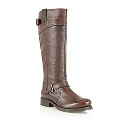 Lotus - Dark brown 'Amano' long leg boots