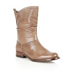 Lotus - Khaki leather 'Fiza' calf boots