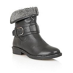 Lotus - Black 'Matterhorn' ankle boots