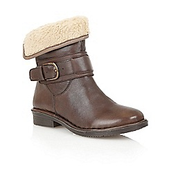 Lotus - Brown leather ' Matterhorn' ankle boots