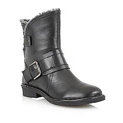 Lotus - Black 'Elgon' ankle boots