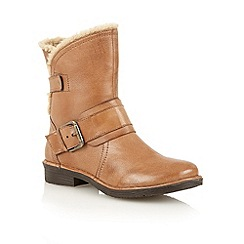 Lotus - Tan 'Elgon' ankle boots