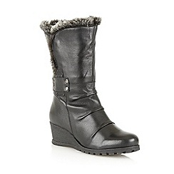 Lotus - Black 'Sayan' calf boots