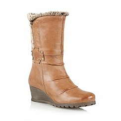 Lotus - Tan leather 'Sayan' calf boots
