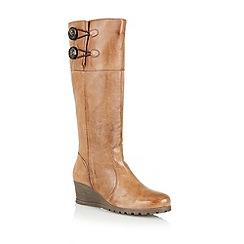 Lotus - Tan 'Bellano' knee high boots