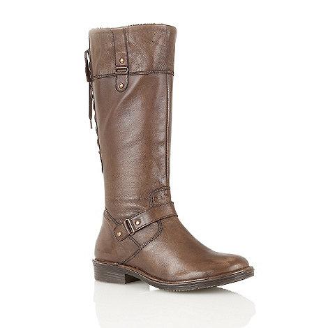 Lotus - Brown +Lantana+ knee high boots