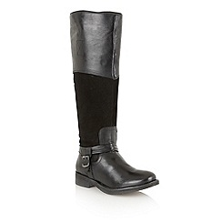 Lotus - Black 'Olida' knee high boots