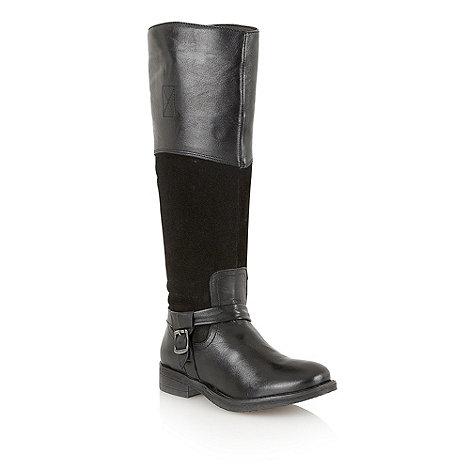 Lotus - Black +Olida+ knee high boots