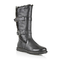 Lotus - Black leather 'Sard' calf boots