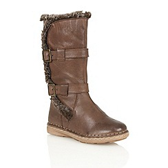 Lotus - Brown leather 'Sard' calf boots