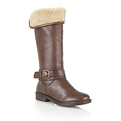Lotus - Brown 'Manson' knee high boots